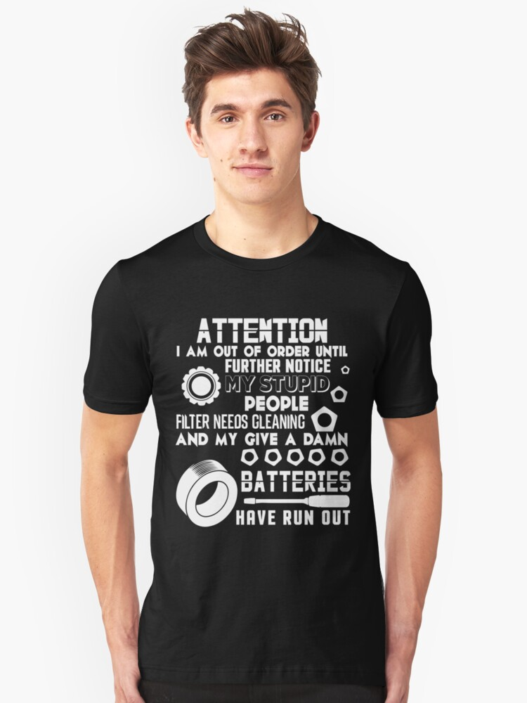 My Give A Damn Batteries Have Run Out T Shirt Unisex T-Shirt Front