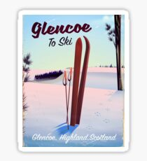 Glencoe To Ski travel poster Sticker