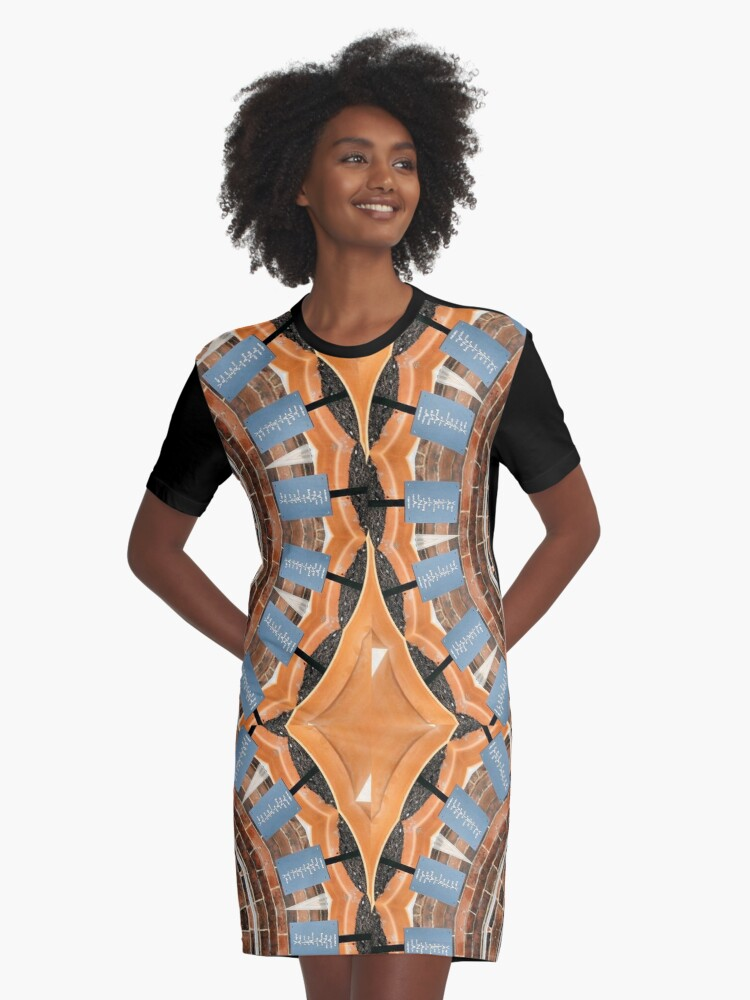 Plant Pots and Poetry Graphic T-Shirt Dress Front