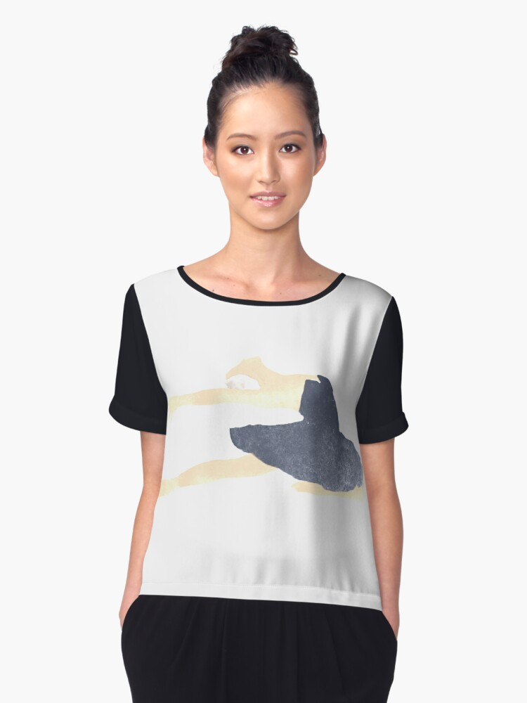 The dance of the swans Women's Chiffon Top Front