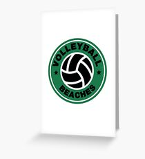 Volleyball Beaches Funny Coffee Distressed Funny Gift Greeting Card