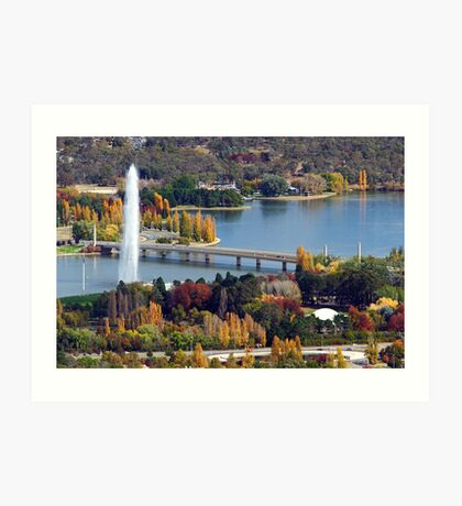Lake Burley Griffin - Canberra Art Print