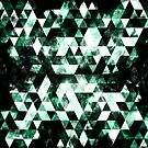 Triangle Geometric Green Smoky Galaxy by PLdesign