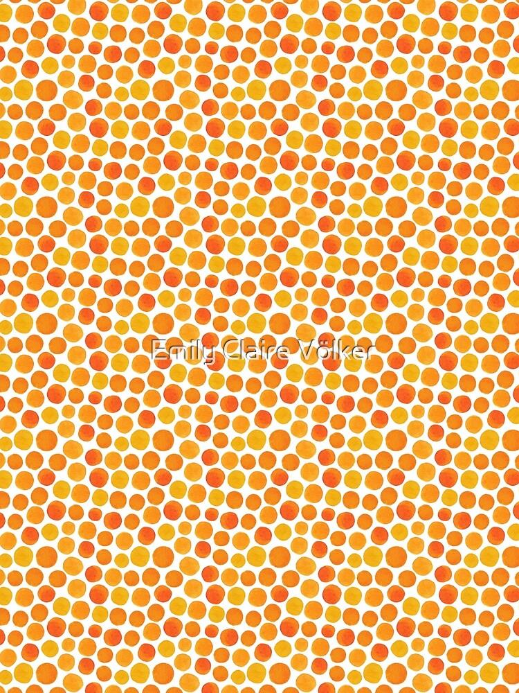 orange dotty dot dots by lillylotus