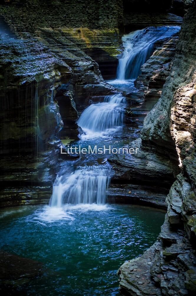 Watkins Glen Waterfall by LittleMsHorner