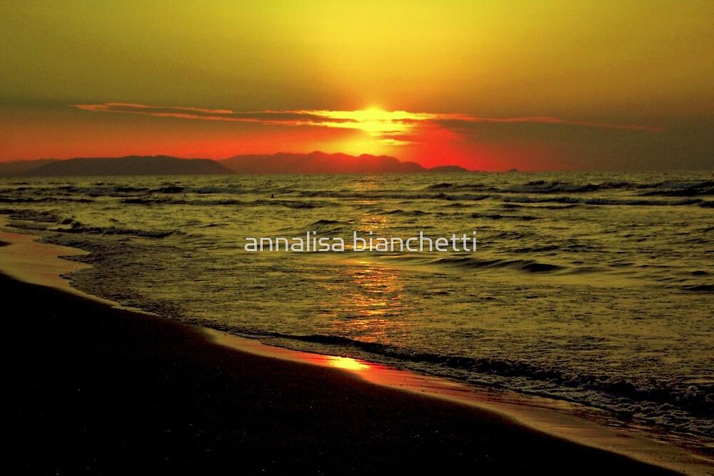 Sunset on the sea by annalisa bianchetti