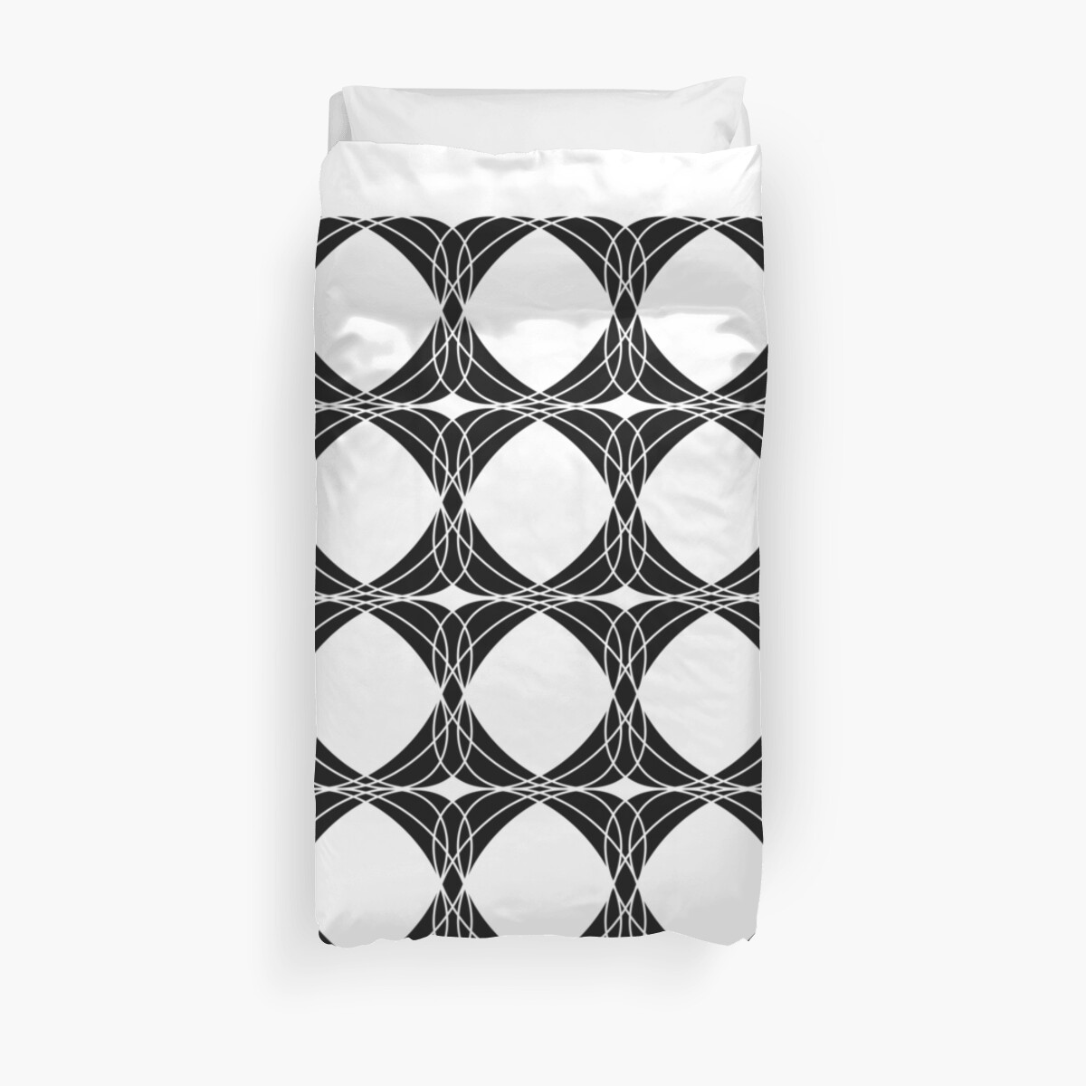 Abstract pattern - black and white. by kerens