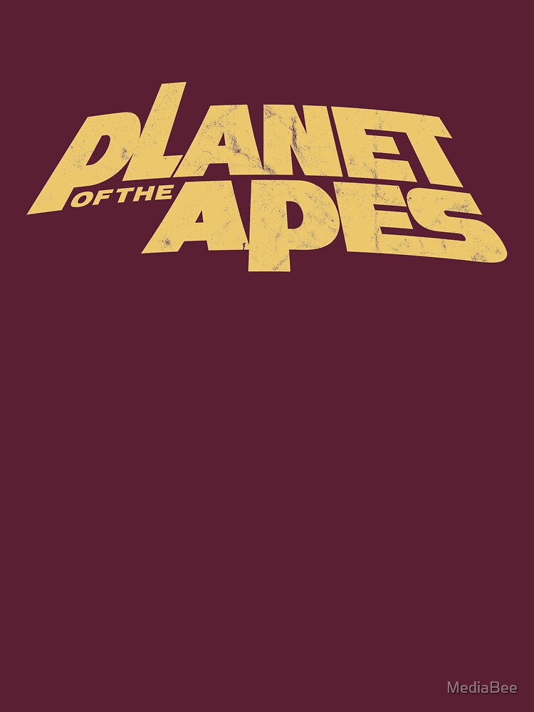 Planet of the Apes vintage Yellow logo 1968 by MediaBee