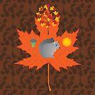 Grey Squirrel Autumn Pattern by Daniel Bevis