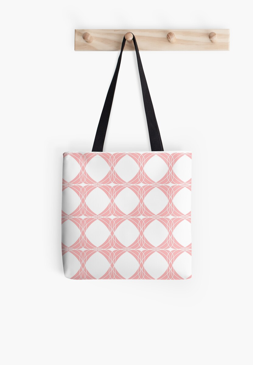 Abstract pattern - pink and white. by kerens