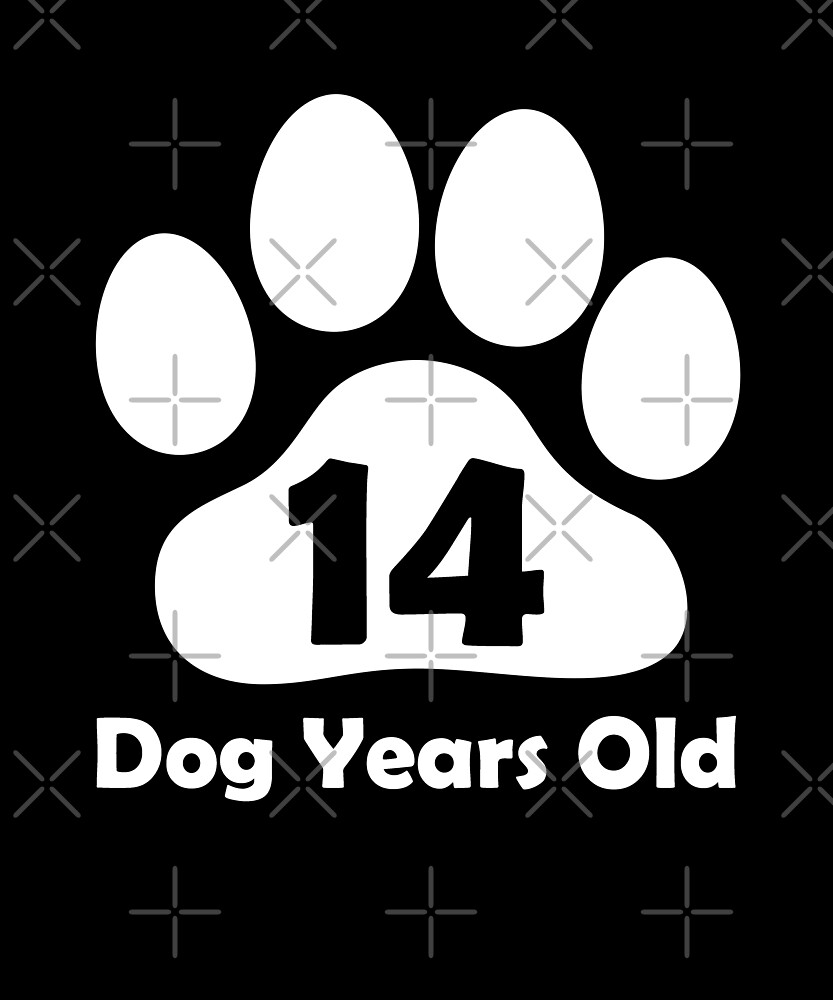 14 Dog Years Old Funny 2nd Birthday Gift Puppy Love by SpecialtyGifts