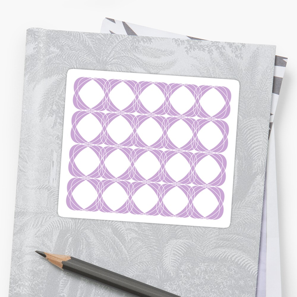 Abstract pattern - purple and white. by kerens