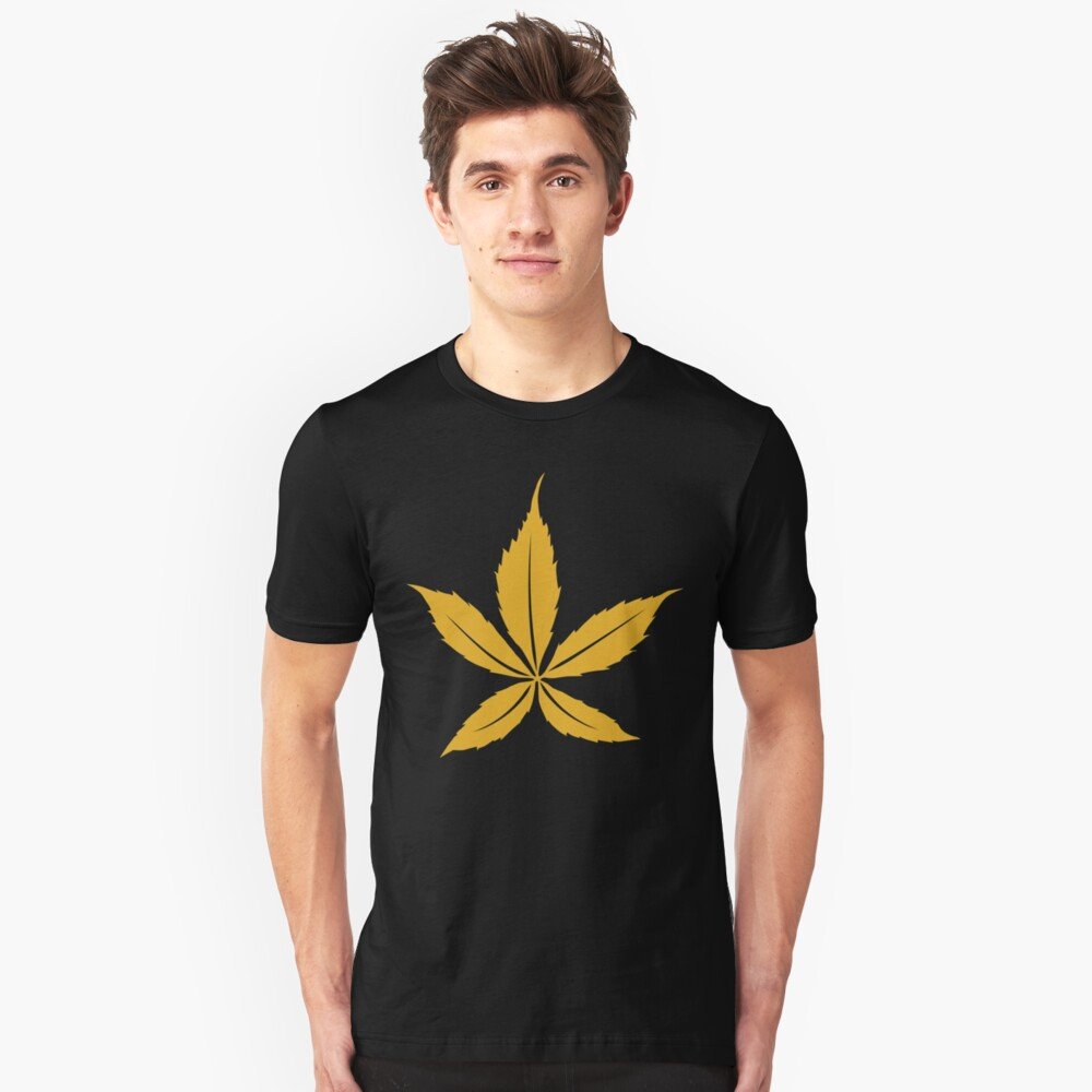 Leaves - Gold - Leaves Gold Unisex T-Shirt Front