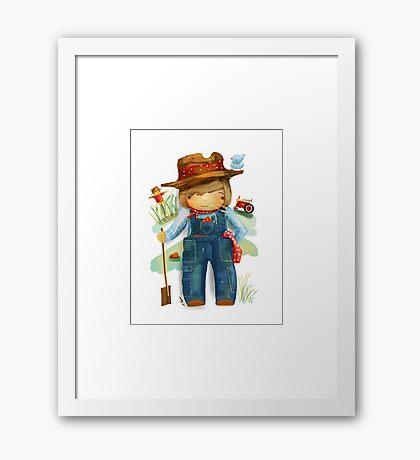 The Little Farmer Framed Print