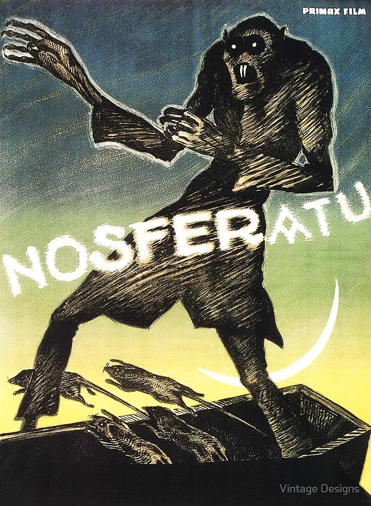 Nosferatu a Symphony of Horror restored vintage poster by Vintage Designs