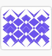 Abstract geometric pattern - blue and white. Sticker