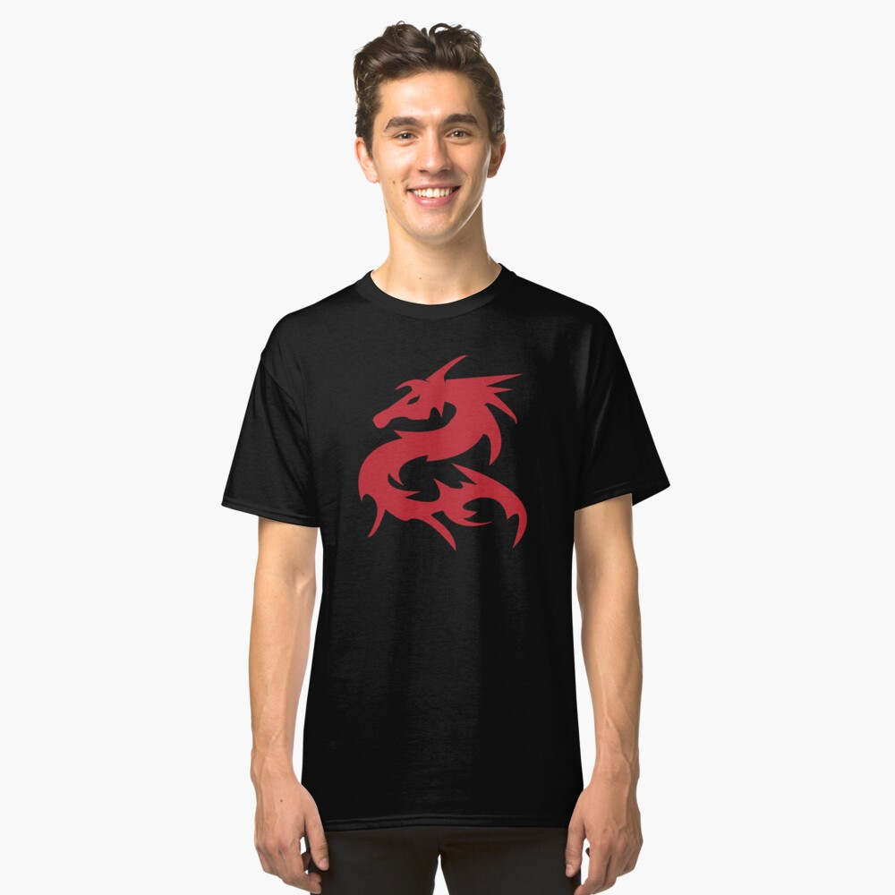 Dragon tribal tattoo Classic T-Shirt Front