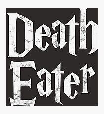 Death Eater vintage style logo Photographic Print