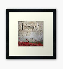 Blood swept Lands and Seas of red #1 Framed Print