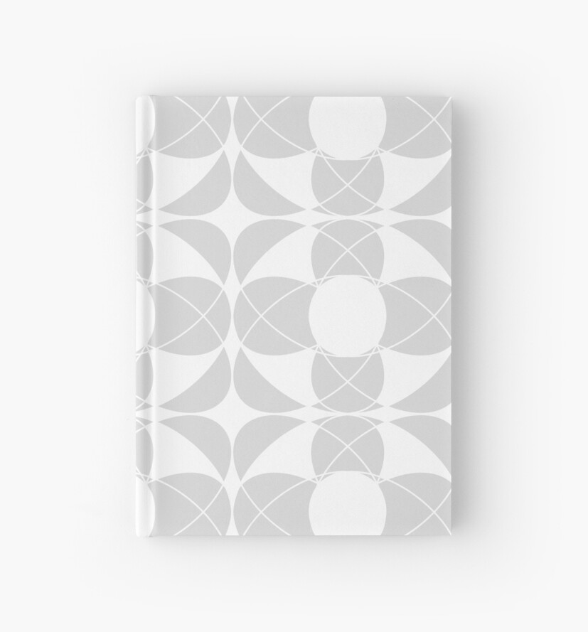Abstract pattern - gray and white. by kerens