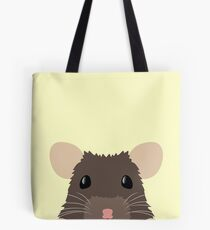 Cute peeking pet RAT Tote Bag