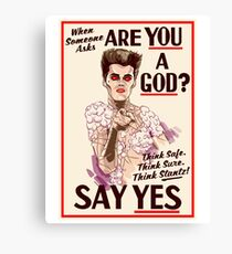 Are You a God? Canvas Print