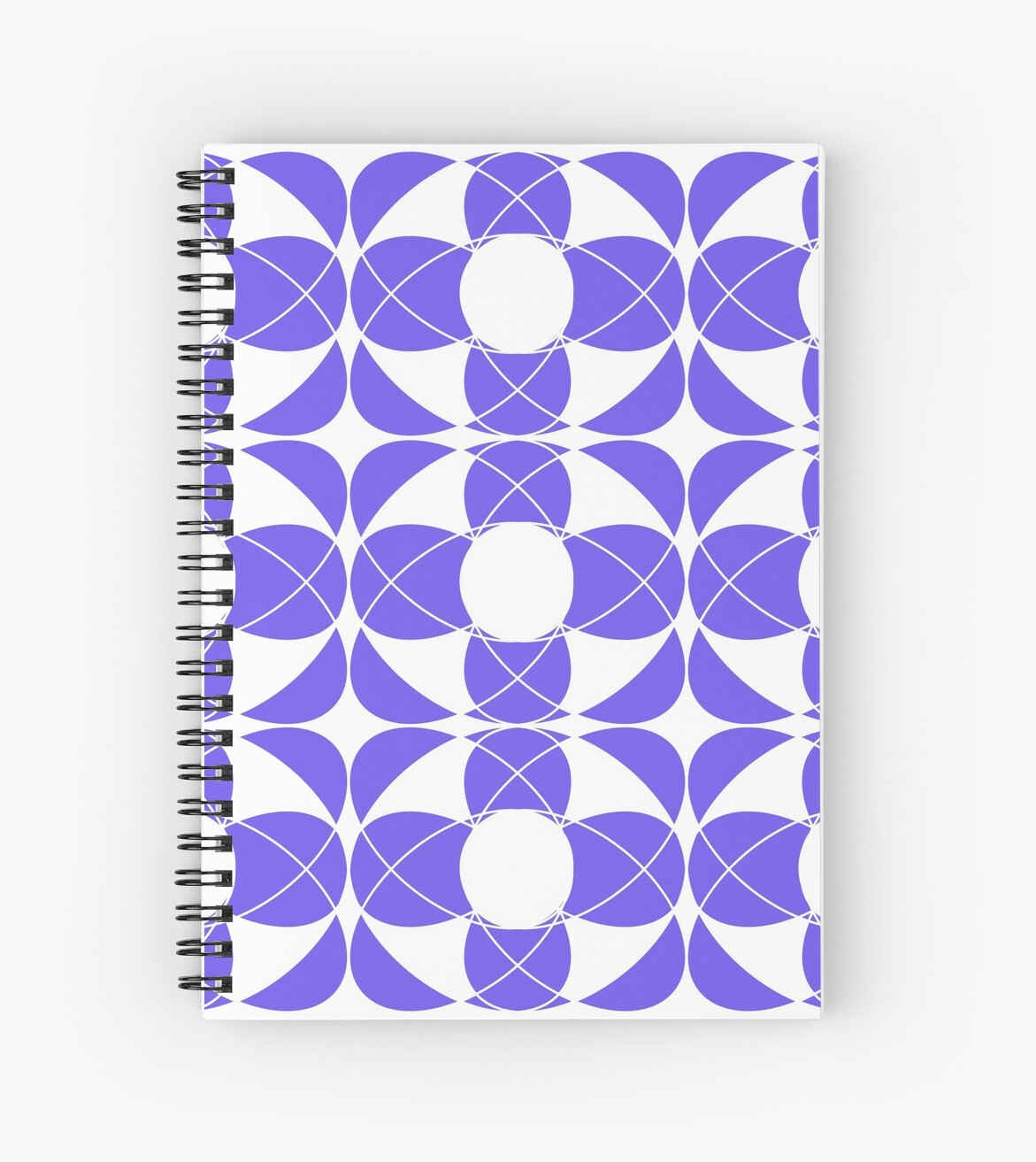 Abstract pattern - blue and white. by kerens