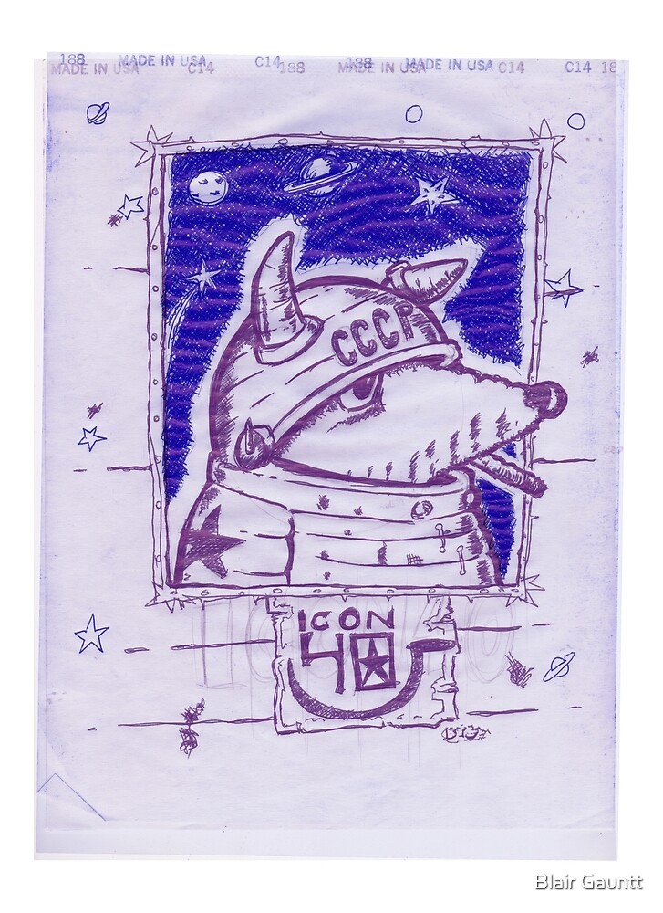 LAIKA BALLPOINT SPACE DOG MIMEO by Blair Gauntt