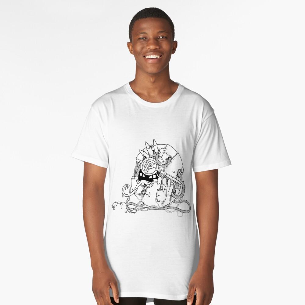 Cyberart Dark Pokemon Pokeball Long T-Shirt Front