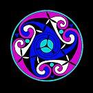 Celtic Spiral (Blue n Purple) by Antony Potts