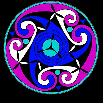 Celtic Spiral (Blue n Purple) by potty