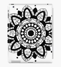 Vine black mandala on white iPad Case/Skin