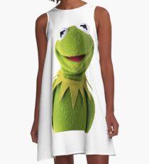 Kermit The Frog T-shirt A-Line Dress