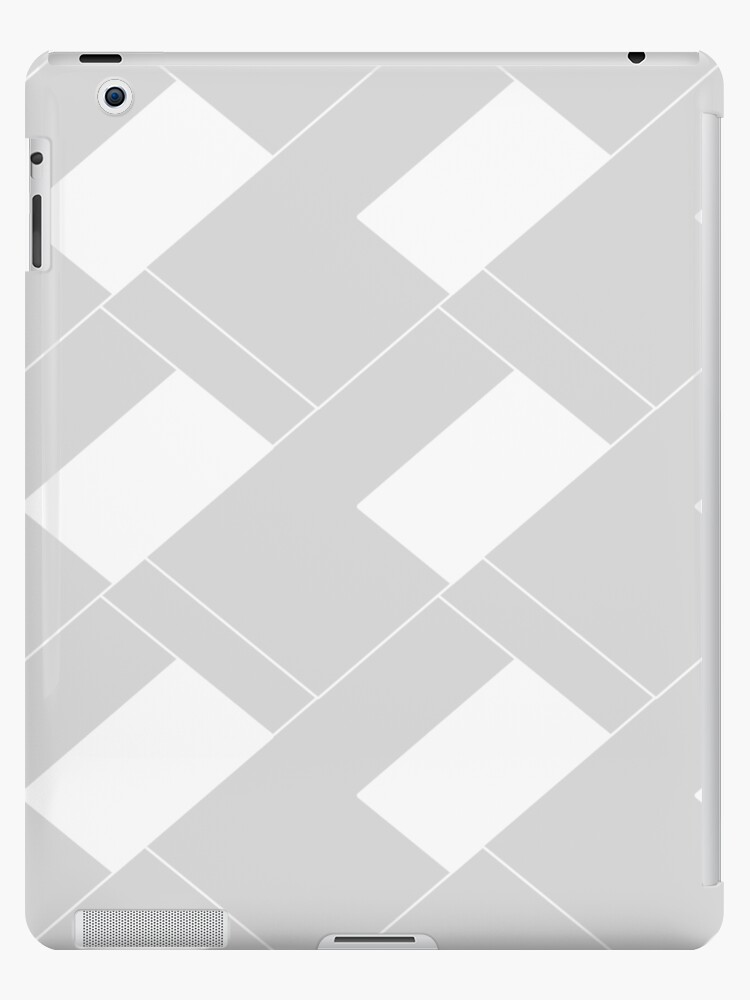 Abstract geometric pattern - gray and white. by kerens