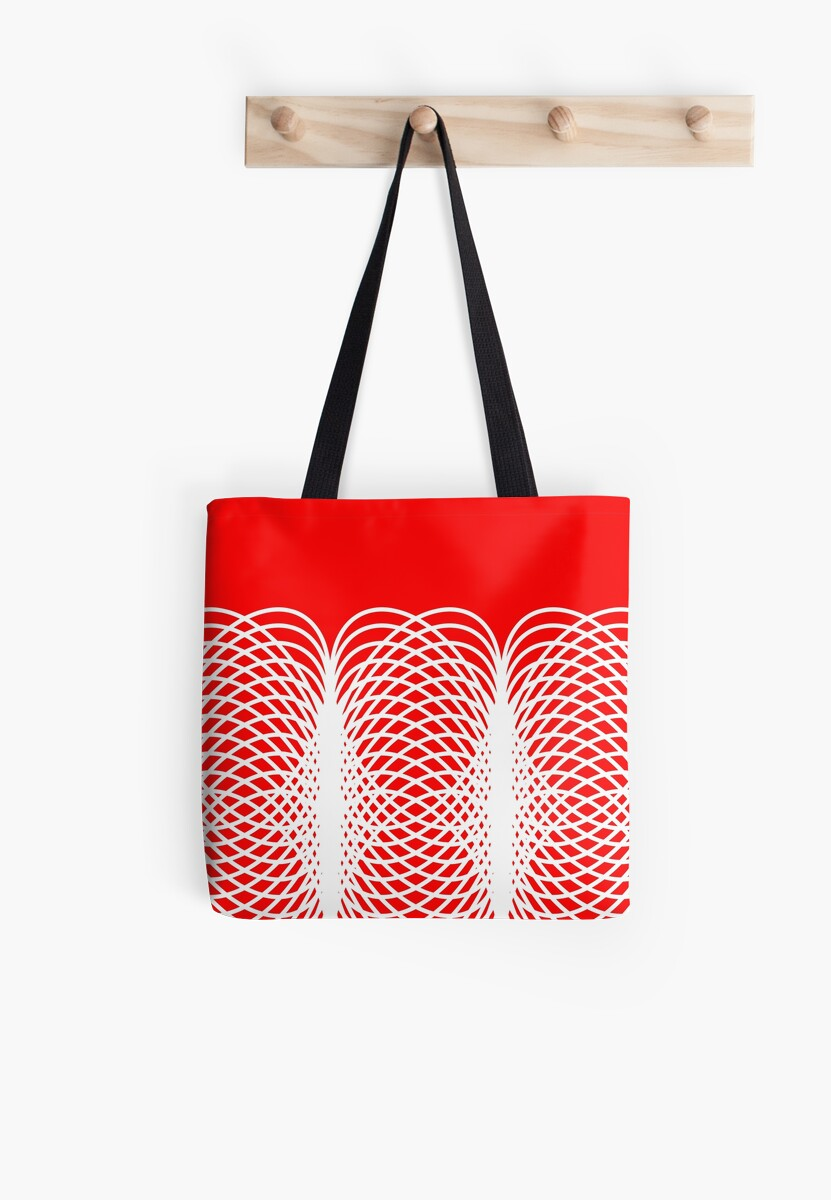 Abstract pattern - red and white. by kerens