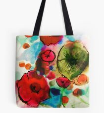 And then she drew Poppies Tote Bag