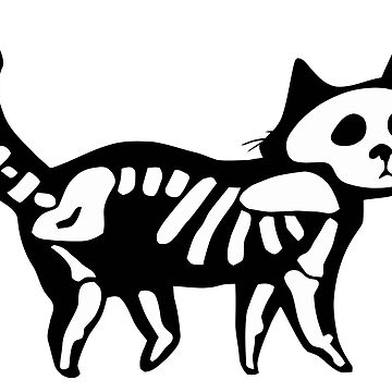 Skeleton Cat Halloween by t058840758