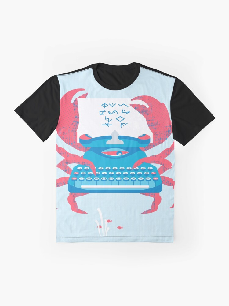 Alternate view of Crab The Typewriter Graphic T-Shirt