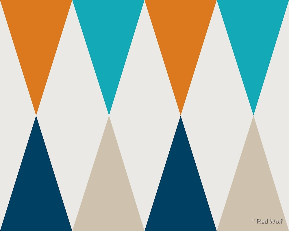 Geometric Pattern: Harlequin: Blue/Orange by * Red Wolf