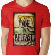 Made in Belfast oil pastel Mens V-Neck T-Shirt