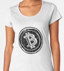 Bitcoin Cash Circle- Black Women's Premium T-Shirt