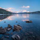 Maligne Lake Sunset by George Wheelhouse