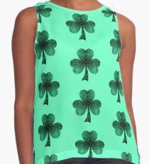 Emerald green shamrock clover sparkles Contrast Tank