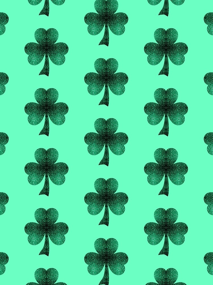 Emerald green shamrock clover sparkles by PLdesign