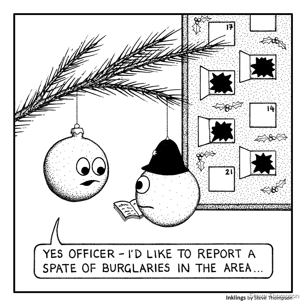 Christmas burglaries by Steve Thompson