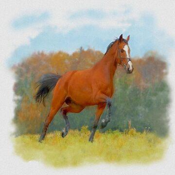 Horse, watercolor by anushka777