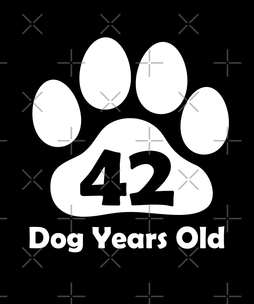 42 Dog Years Old Funny 6th Birthday Gift Puppy Lovers by SpecialtyGifts