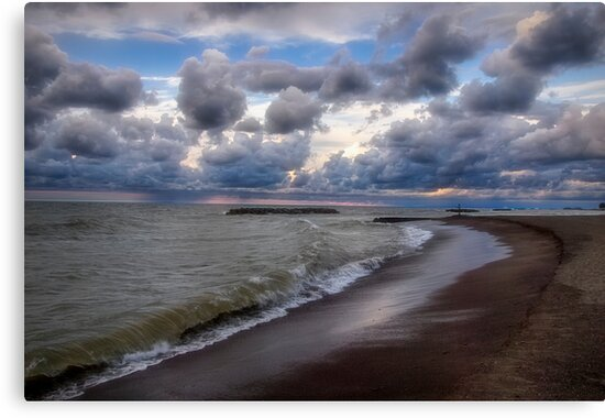 Lighthouse Beach Before the Storm by Kathy Weaver