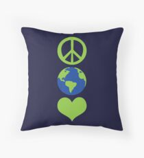Peace love Earth Floor Pillow