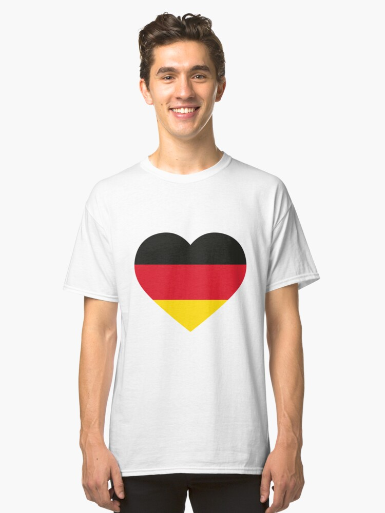 German Heart Classic T-Shirt Front